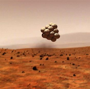 Mars Pathfinder landing arrangements