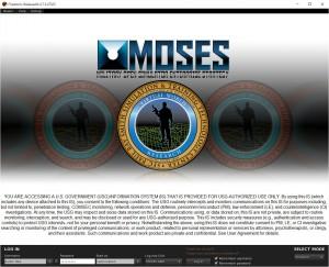 MOSES-Login-Screen