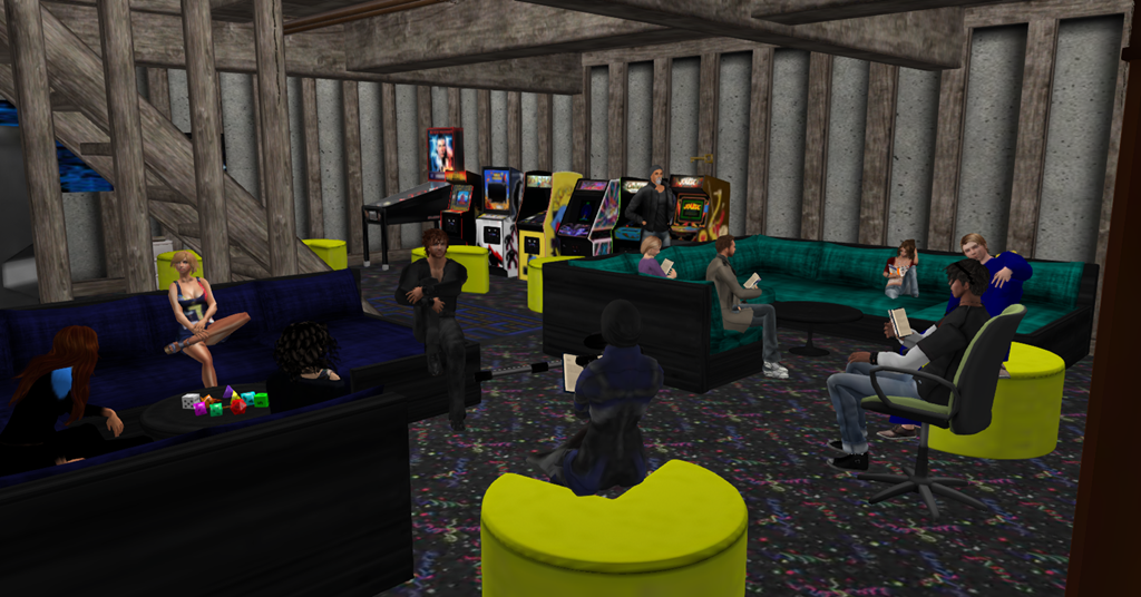 Ready Player One Aech S Basement Chatroom In Second Life