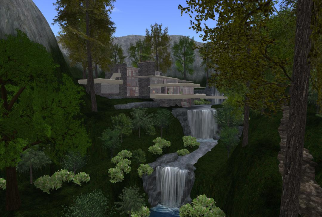OpenSim-Fallingwater-Project-Mill-Run-at-Midday