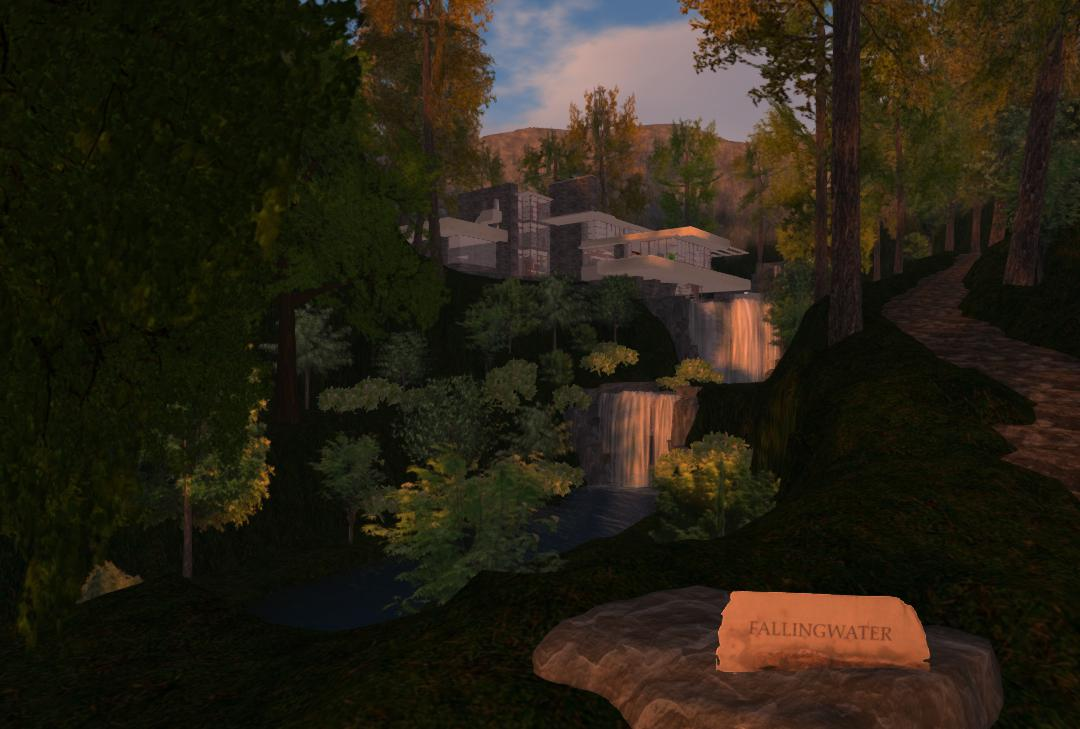 OpenSim-Fallingwater-project-Mill-Run-with-Sign