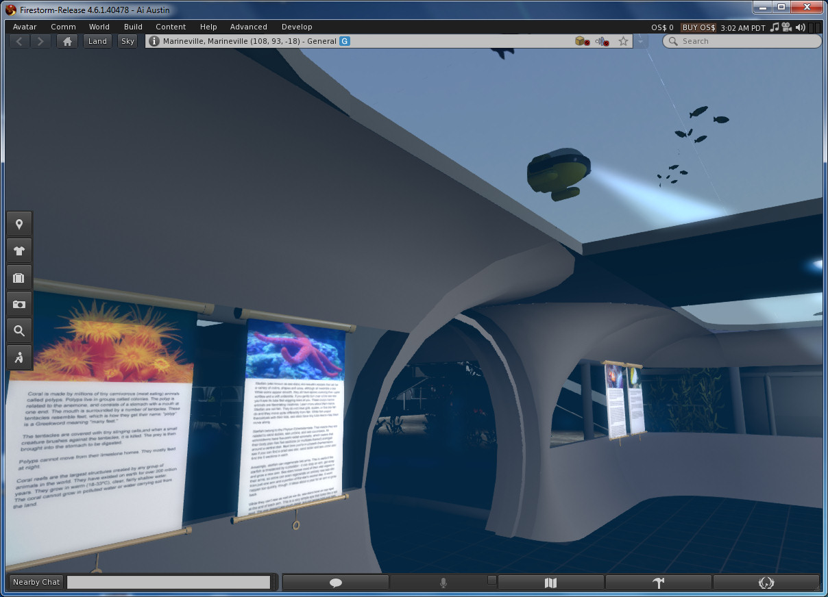 OpenSim Supports Deep Seas and Minus 0m Underwater Builds | Austin