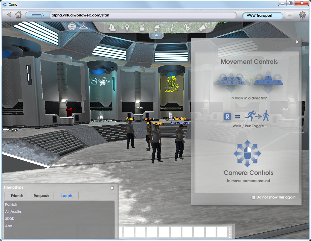 Curio 3D Browser and Unity 3D VirtualWorldWeb | Austin Tate's Blog