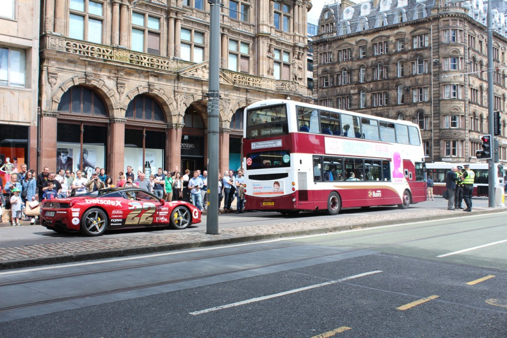 2014-06-08-Gumball3000-Rally-Ferrari-and-Lothian-Bus