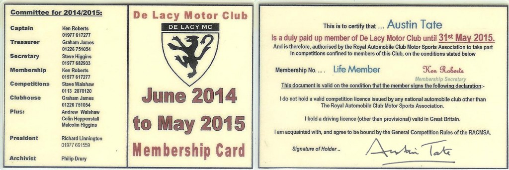 2014-06-01-De-Lacy-Motor-Club-Membership-Card-Austin-Tate