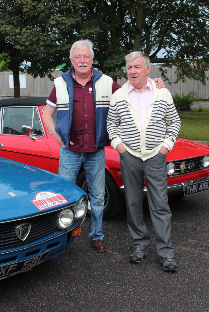 Morris and Jon in a Lancia on the De Lacy Heritage Run 2014