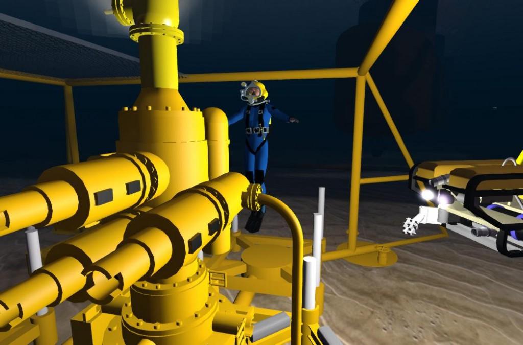2014-10-28-RGU-Diver-at-Oil-Rig-BOP-2