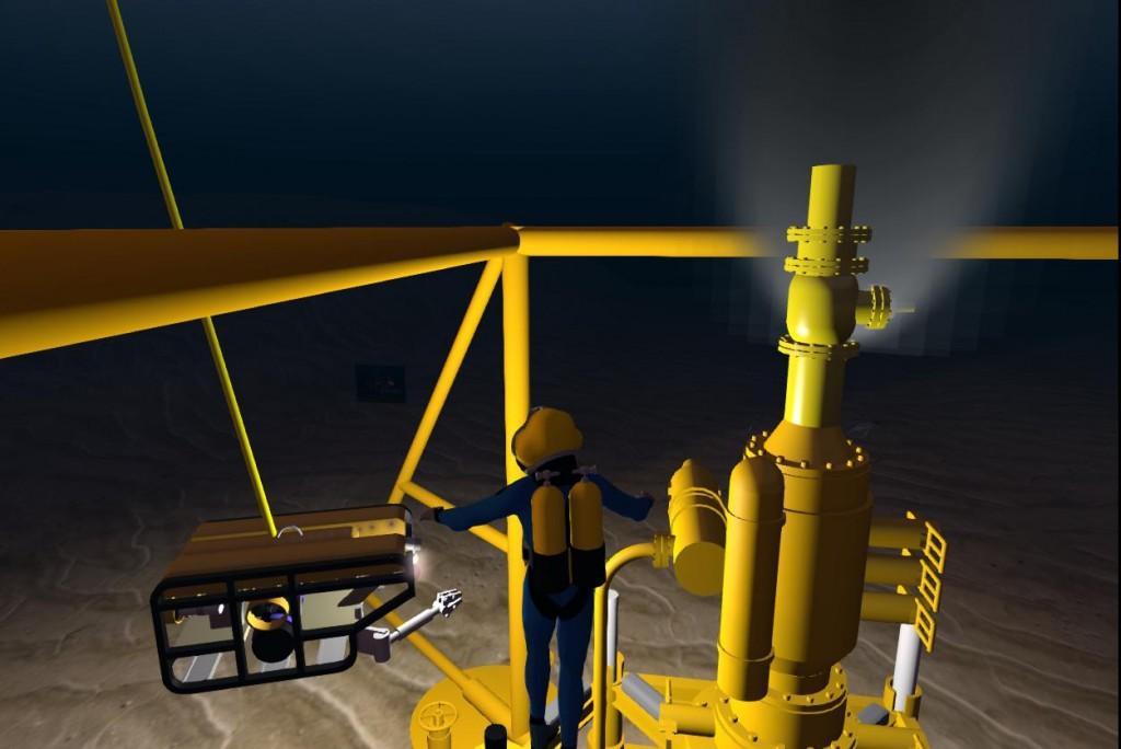 2014-10-28-RGU-Diver-at-Oil-Rig-BOP-3