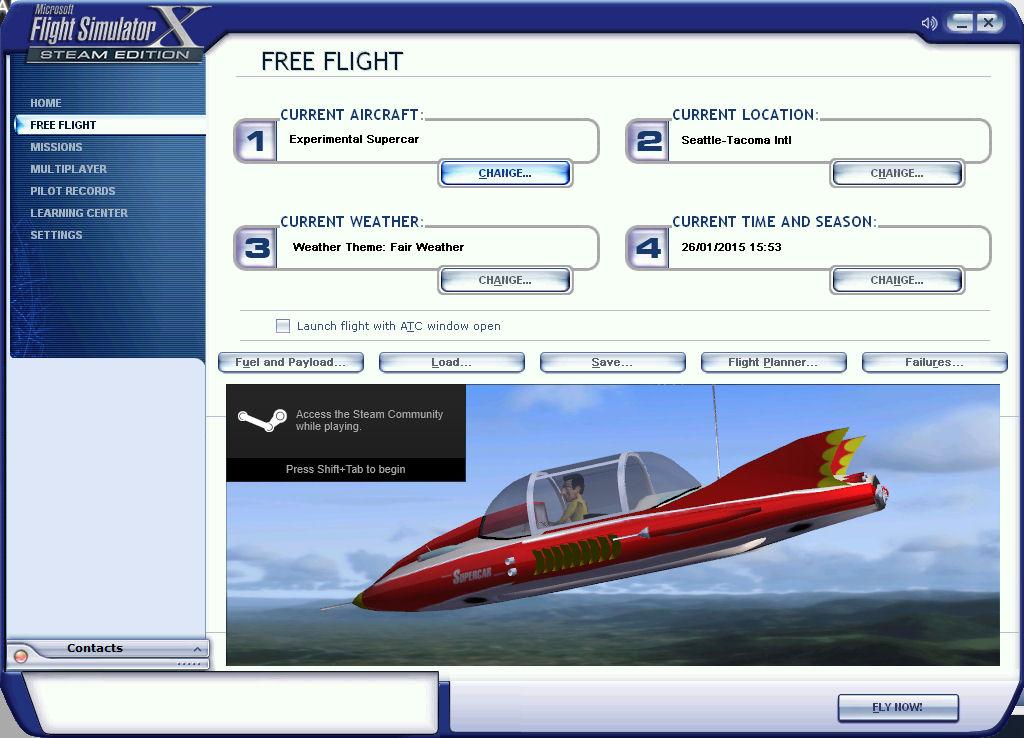 Supercar on Flight Simulator X Steam Edition | Austin Tate's Blog