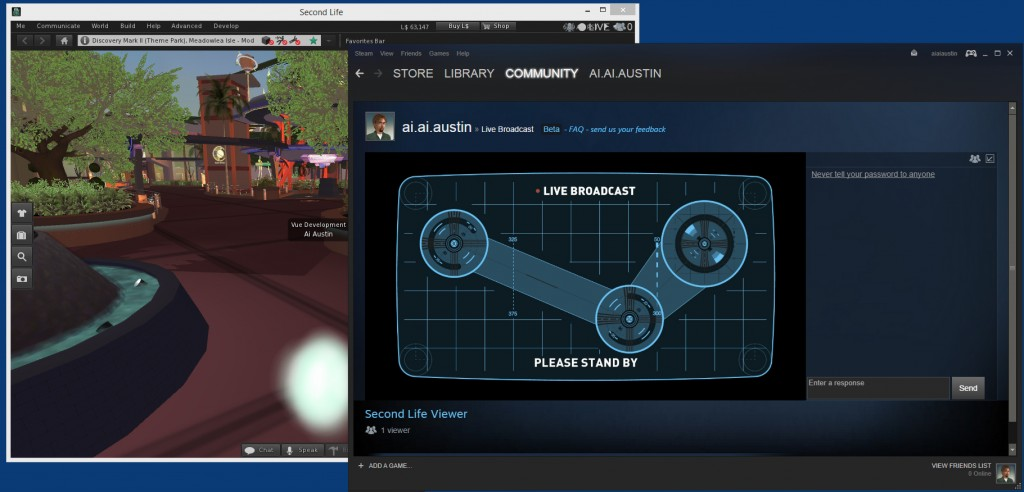 Steam-Live-Broadcast