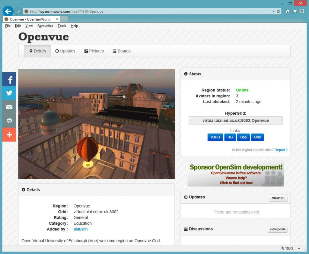 2015-02-11-OpenSimWorld-Openvue-Listing