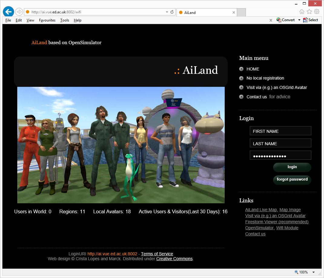 Diva Wifi for OpenSim 0 9 1 0 | Austin Tate's Blog