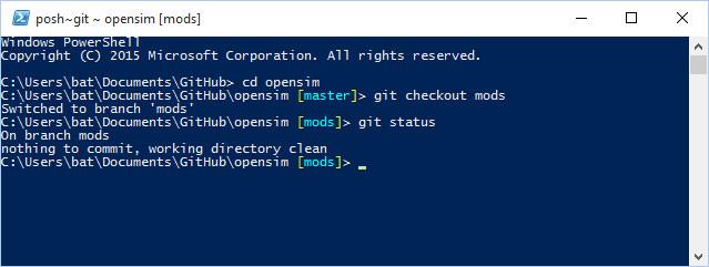 Git-Shell-opensim