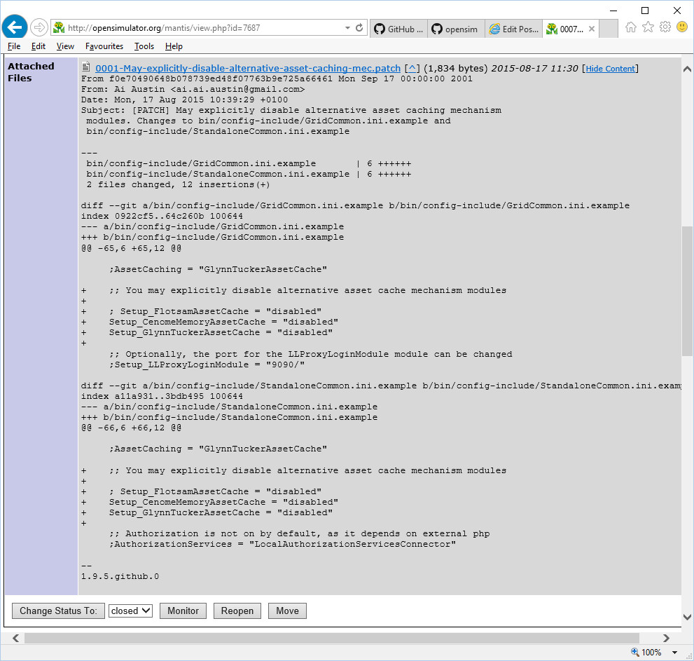 OpenSimulator-Mantis-Issue-with-Patch-Example-Show-Content