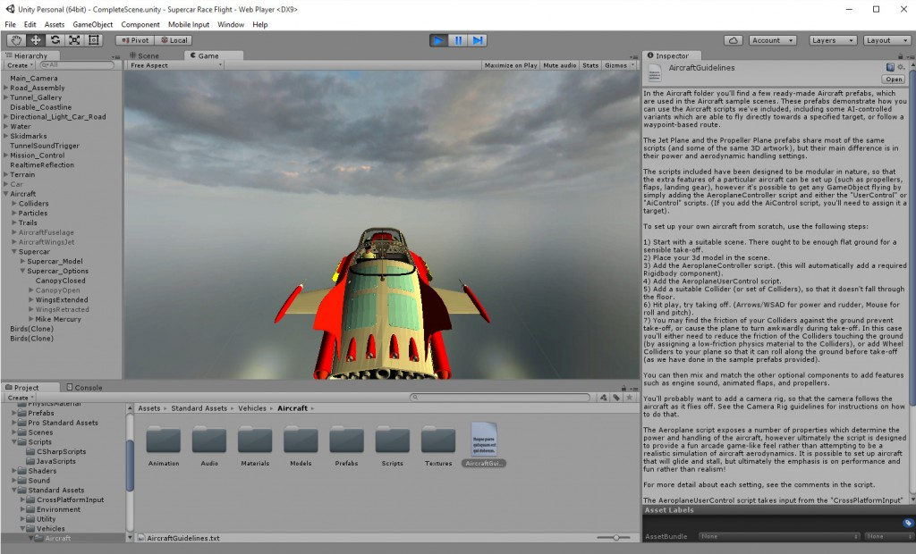 2015-09-15-Unity-5-Supercar-Airborne-Editor