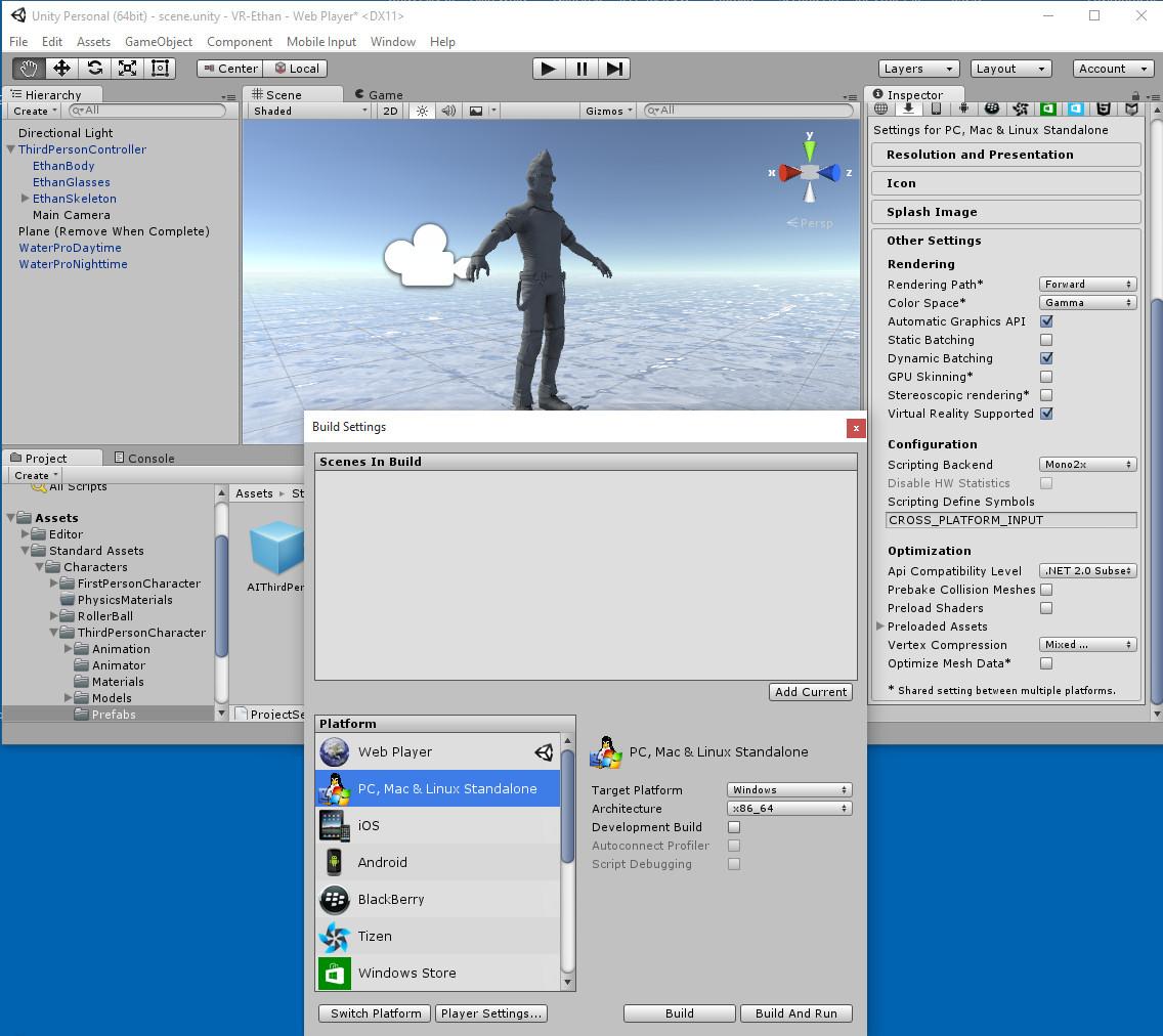 Unity and VR | Austin Tate's Blog