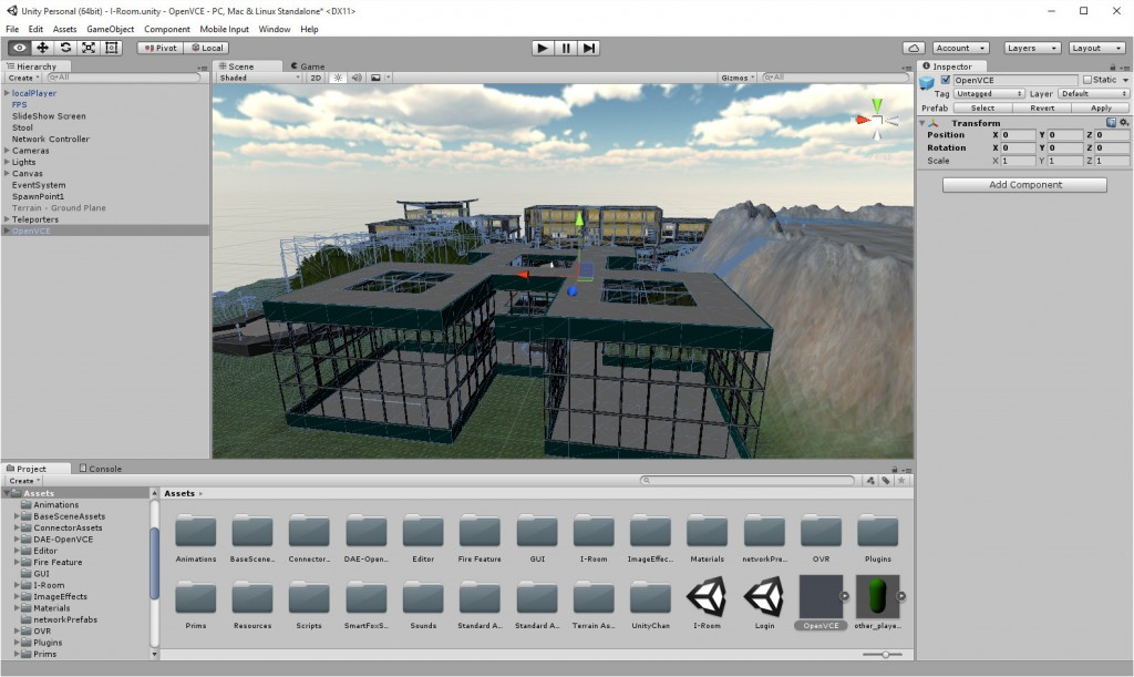 2015-10-05-Unity-OpenVCE-VR-1-Editor
