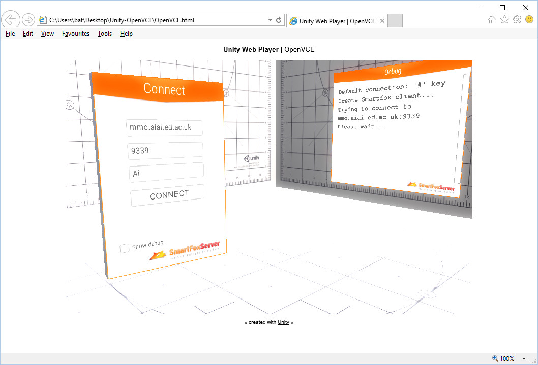 OpenVCE in Unity and VR | Austin Tate's Blog
