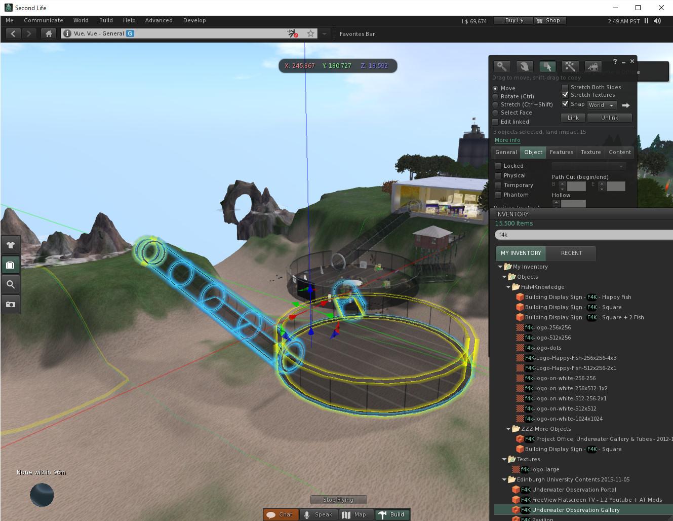 Fish4knowledge Virtual World Pavilion Move To Vue