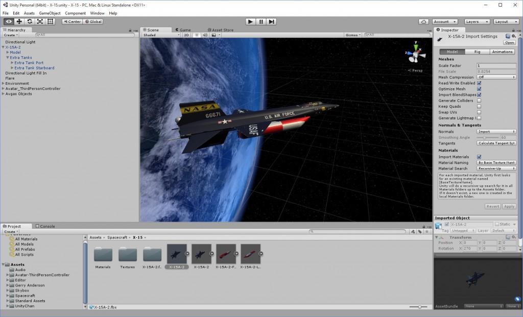 2016-01-29-X-15A-2-Unity-Editor