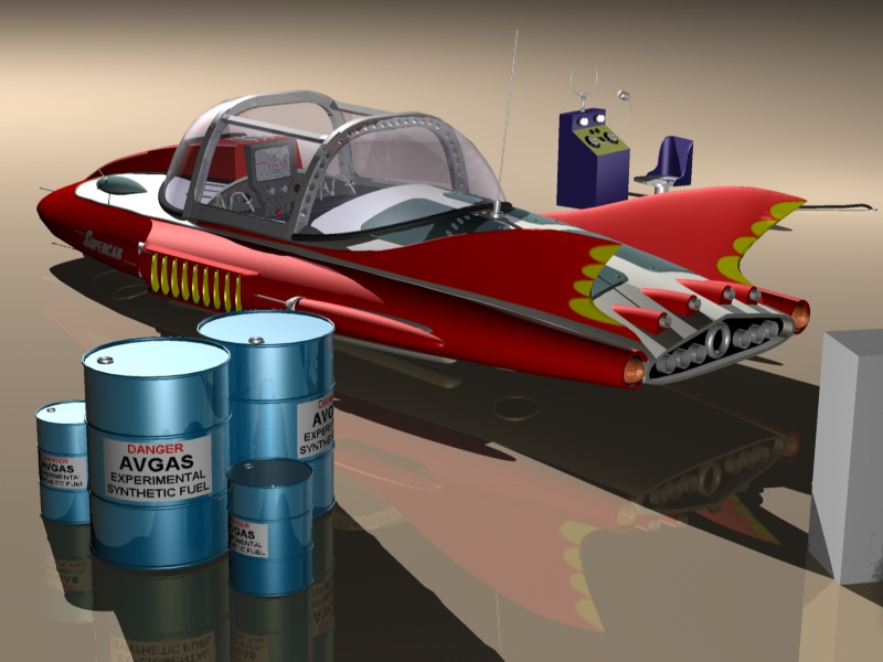 supercar-with-avgas-fuel