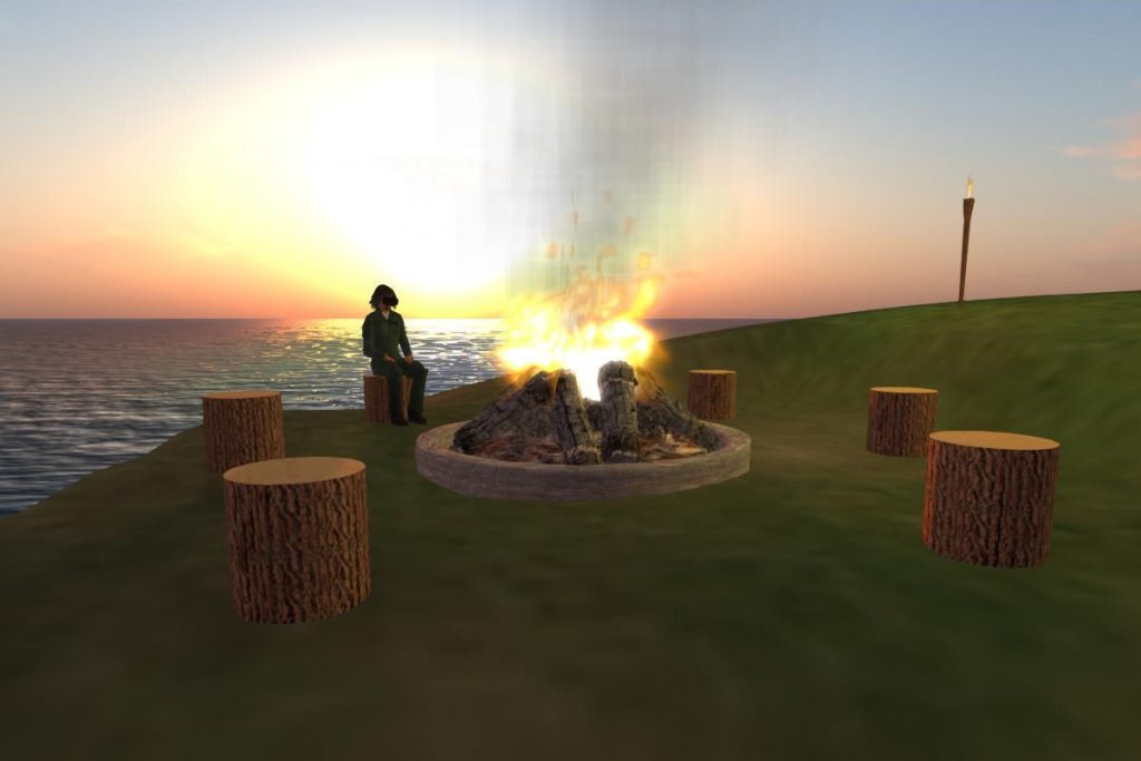 2016-07-22-OSGrid-VRLand-Campfire-at-Sunset