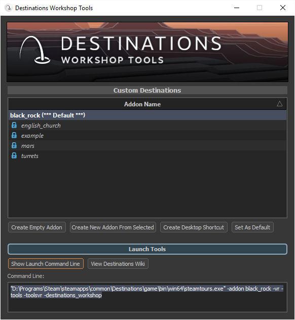 Steam VR Destinations Experiment | Austin Tate's Blog