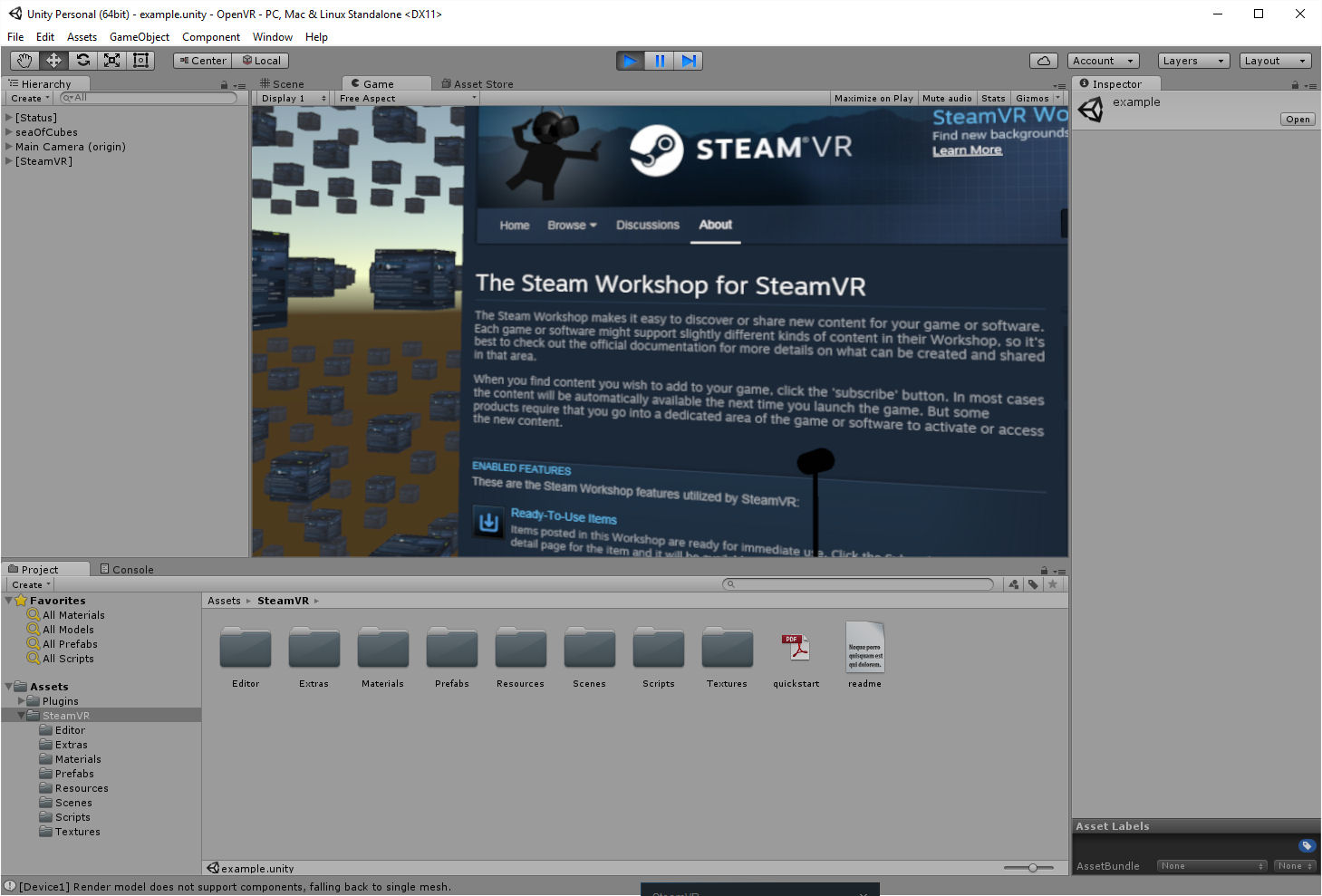 Unity with OpenVR for Vive and Oculus via SteamVR | Austin