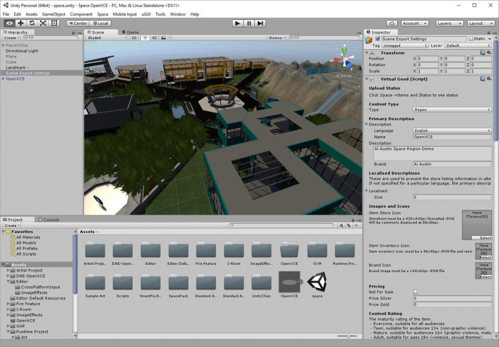 2016-11-15-Sine-Space-OpenVCE-Unity3D-Editor