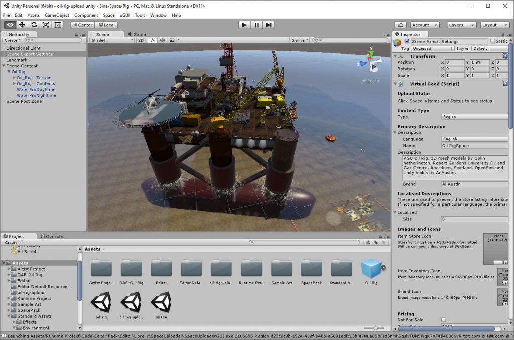 2016-11-21-Sine-Space-Oil-Rig-Unity-Editor