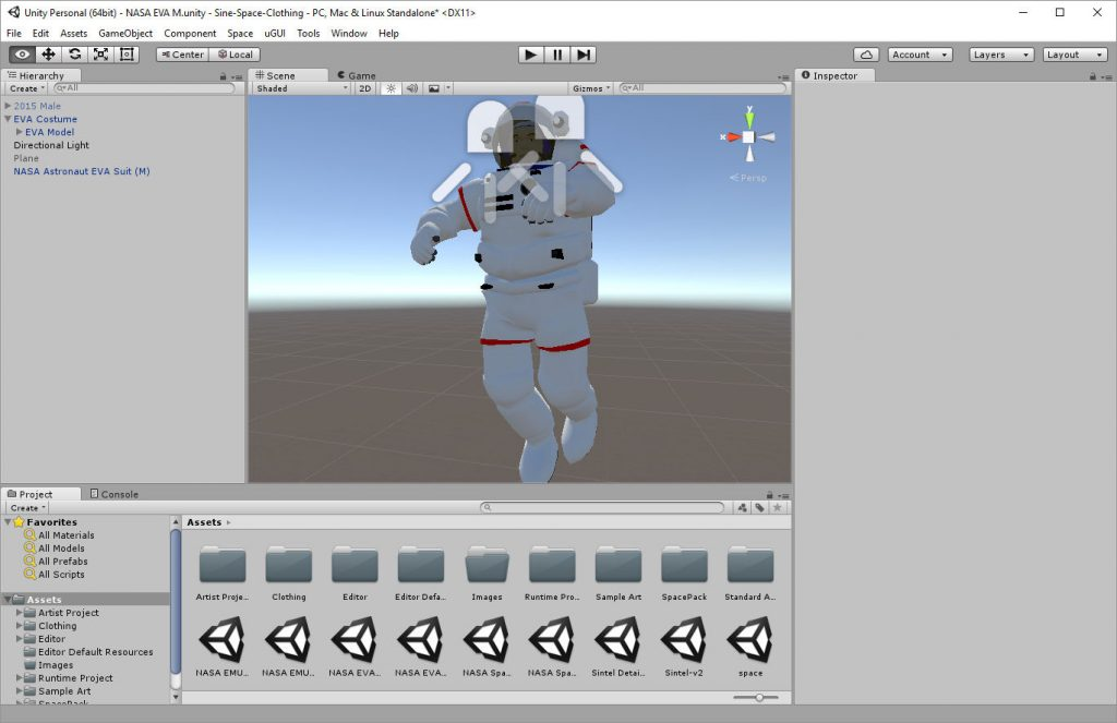 2017-01-17-Sine-Space-NASA-EVA-Unity-Editor