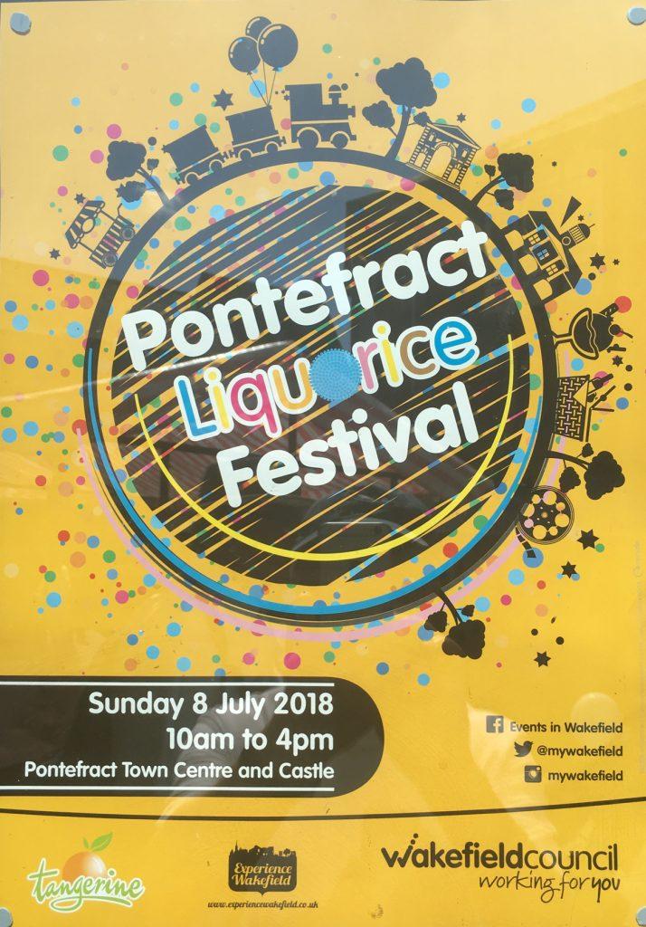Pontefract Liquorice Festival 2018 Poster