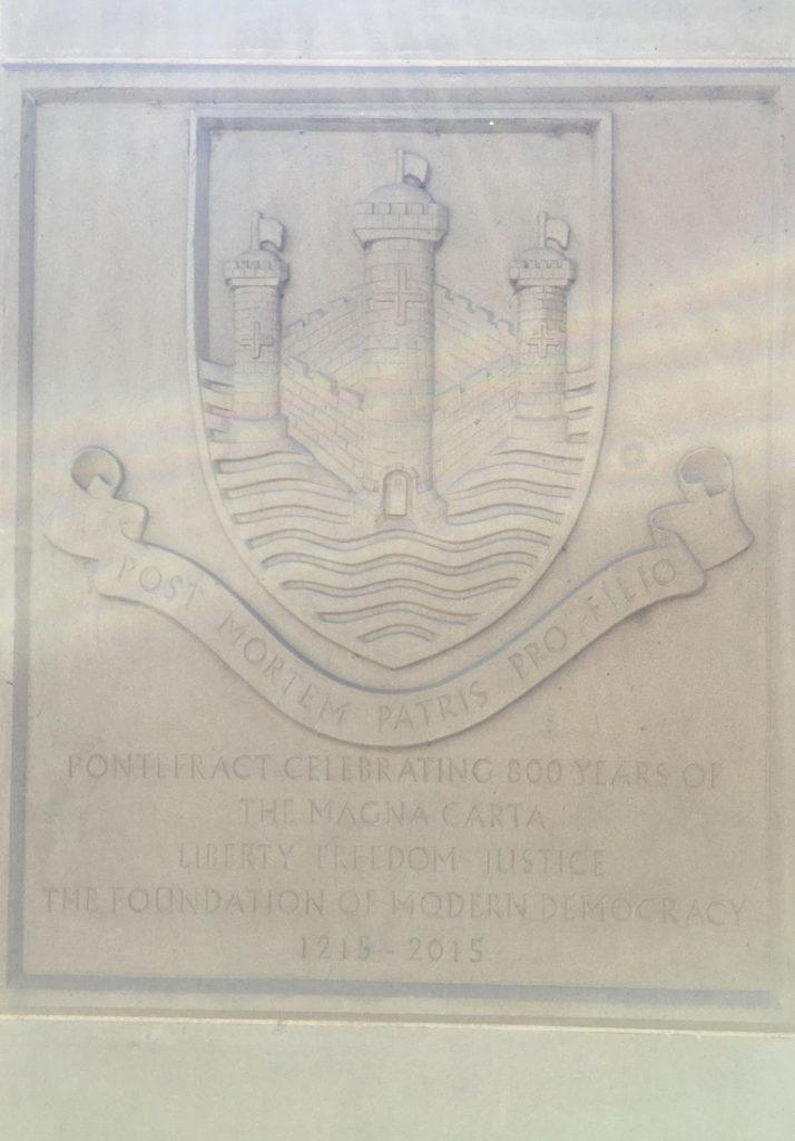 Pontefract Magna Carta Plinth