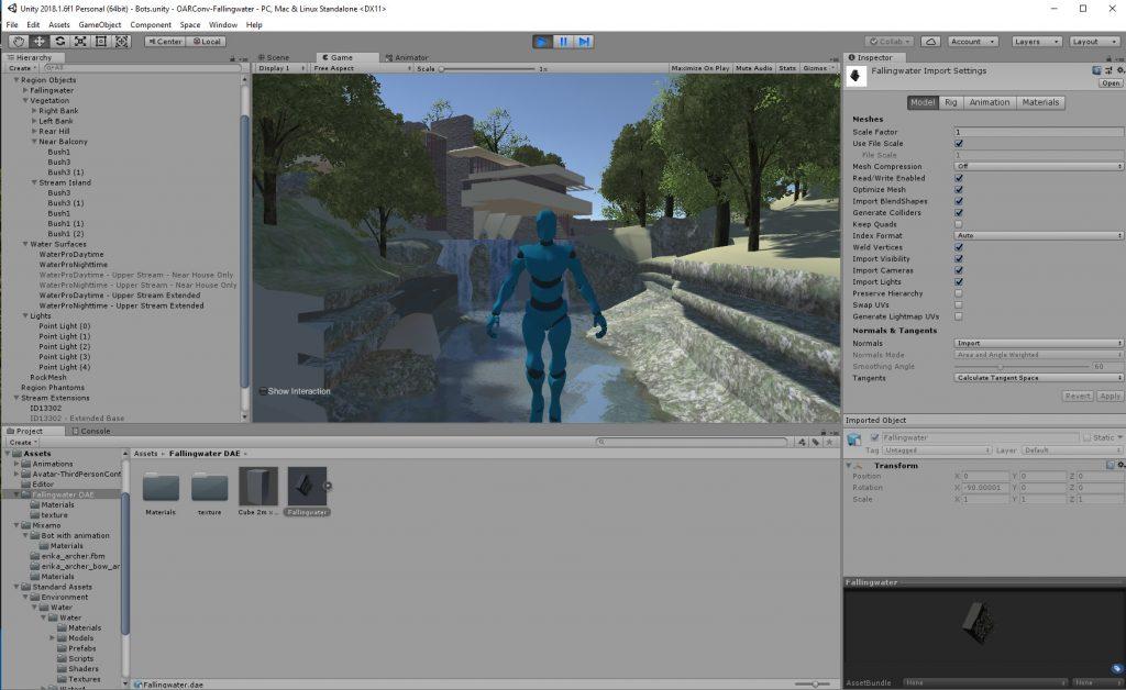 Fallingwater in Unity3D