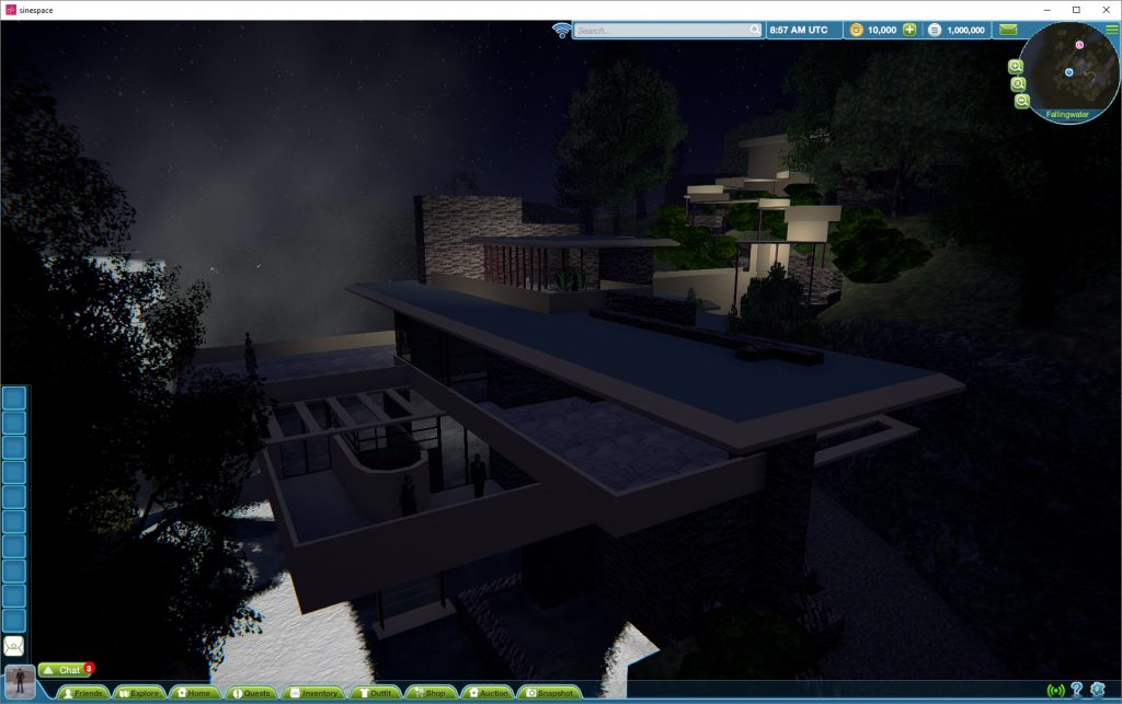 Fallingwater in Sinespace