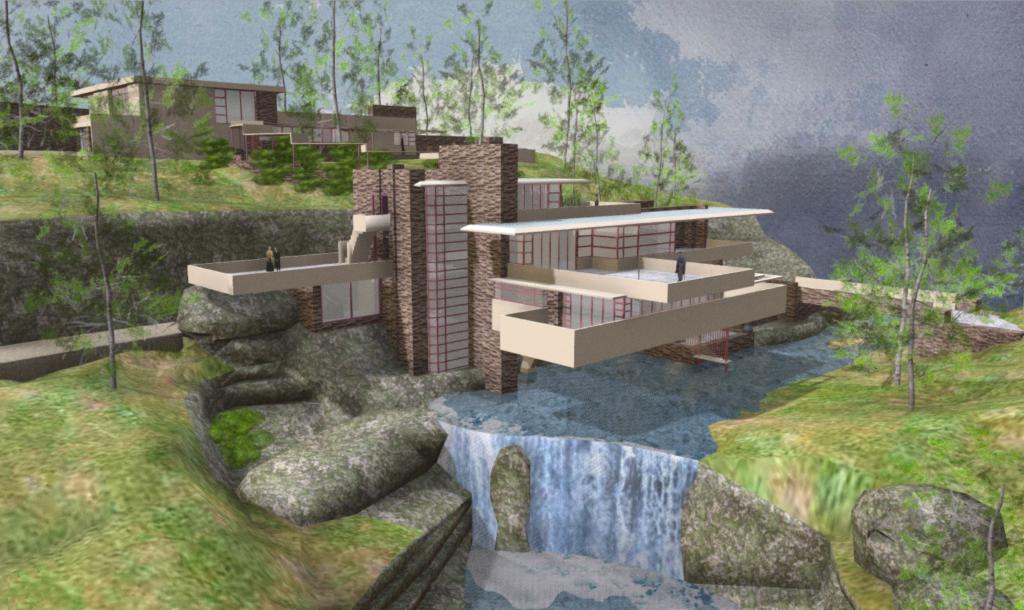 Fallingwater 3D Model by Myles Zhang