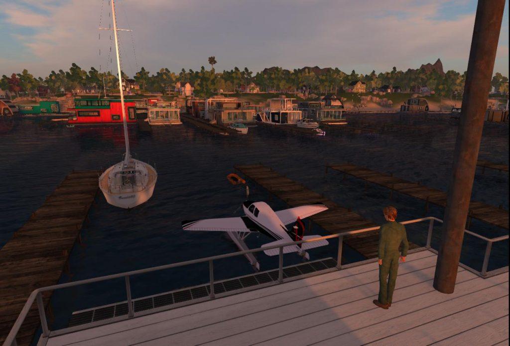 Yacht at Ai Pad at Sunset