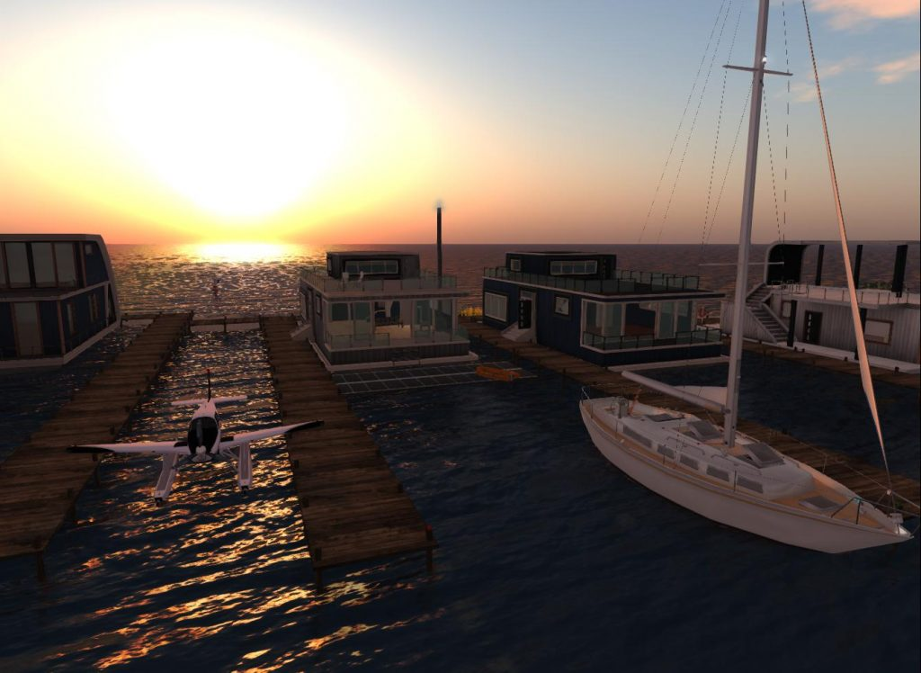 Second Life - Ai Pad - Windlass Houseboat