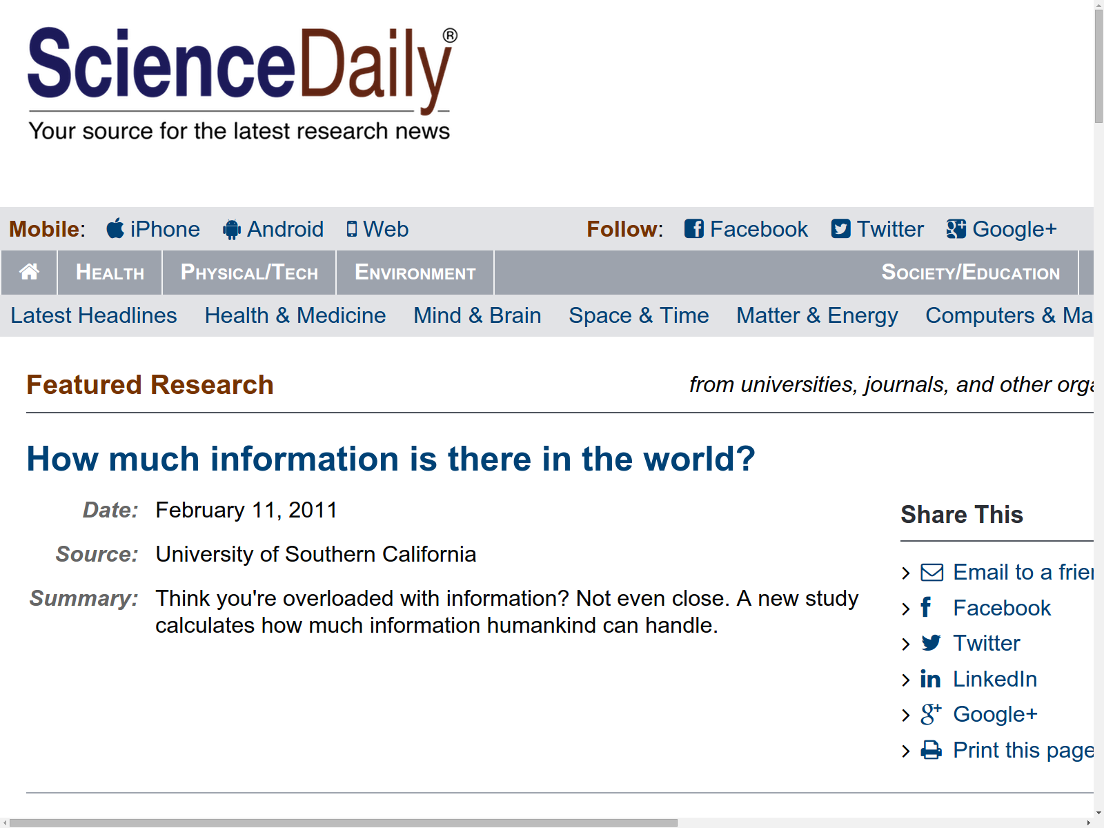 sciencedaily your source for the latest research news - HD1600×1200
