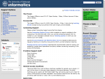 Screenshot of Informatics computing help pages