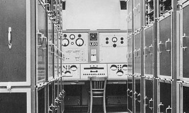 Photograph of LEO/1 Control desk